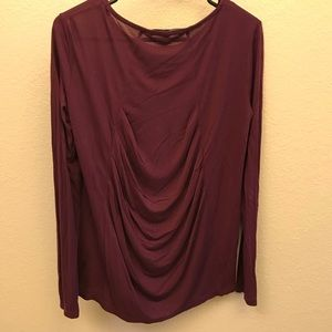 BCBGMaxAzria Tops - NWOT BCBG Max Azria knit top with draped back.